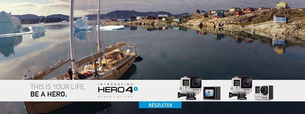 Csúcsminőségű GoPro élmény érkezik - GoPro HERO4 Silver és Black