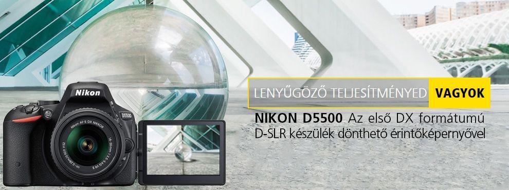 Nikon D5500 - Az első DX formátumú D-SLR készülék dönthető érintőképernyővel