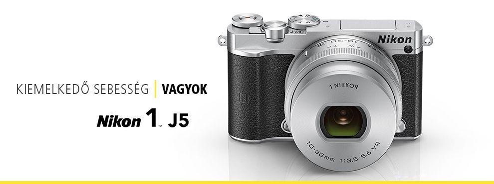 Szakadjon el a hétköznapoktól az új, cserélhető objektíves Nikon 1 J5 fényképezőgéppel!