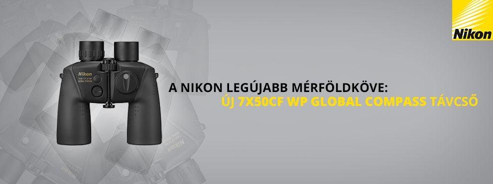A Nikon legújabb bejelentése: 7X50CF WP Global Compass professzionális távcső