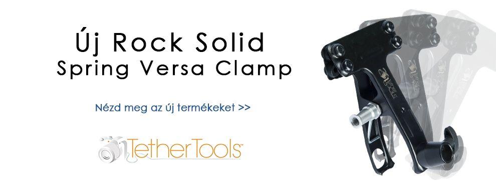 Új Rock Solid Spring Versa Clamp a Tether Tools-tól