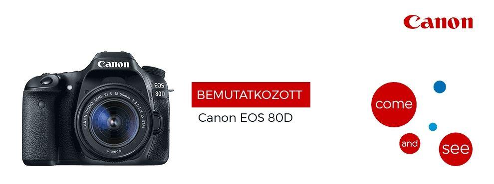 Bemutatkozott a Canon 80D