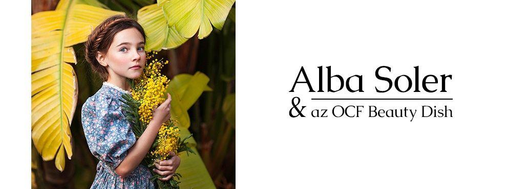 Alba Soler időtlen portréi az OCF Beauty dish fényformálóval