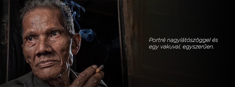 Portré nagylátószöggel és egy vakuval, egyszerűen.