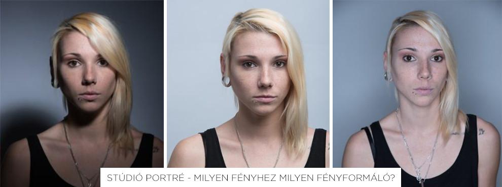 Stúdió portré - milyen fényhez milyen fényformáló?
