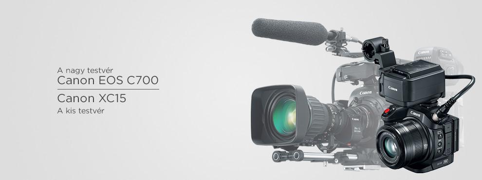 Canon EOS 700 és XC15