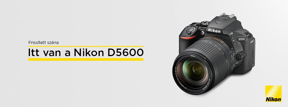 Nikon D5600 bejelentés