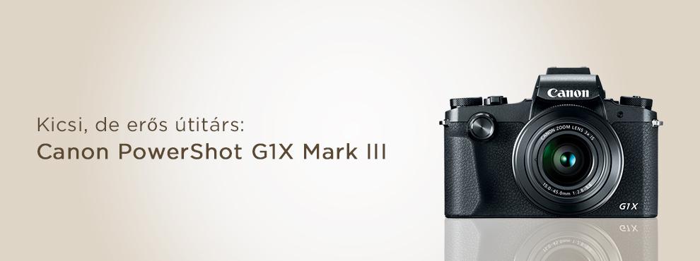 Kicsi, de erős útitárs: itt van az új Canon kompakt gép!