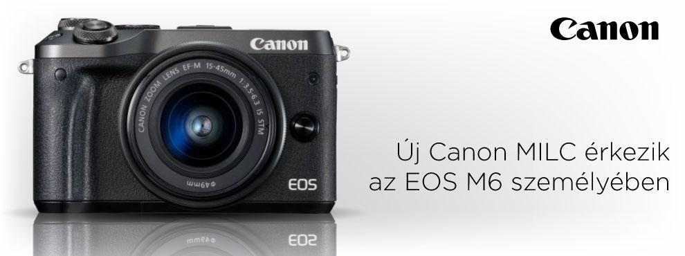 Új Canon MILC érkezik az EOS M6 személyében