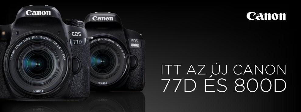 Új Canon DSLR gépek és egy optika a láthatáron - az EOS 77D és EOS 800D