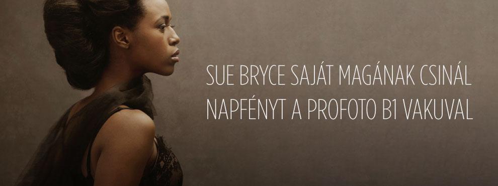 Sue Bryce saját magának csinál napfényt a Profoto B1 vakuval