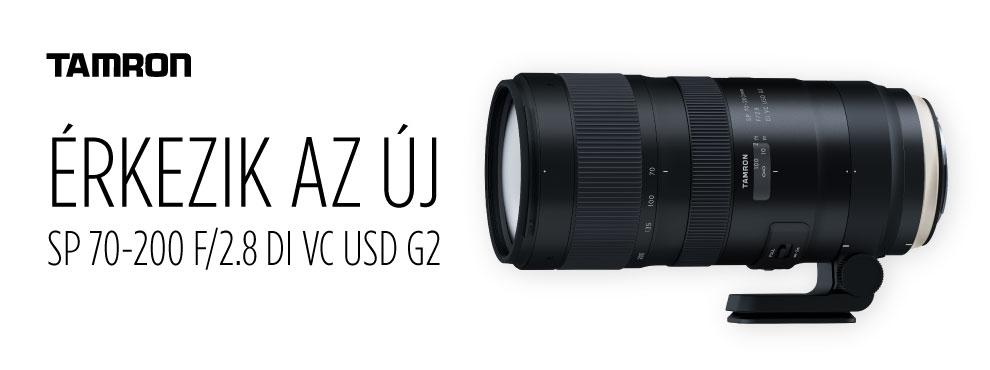 A Tamron bejelentette új, SP 70-200mm F/2.8 Di VC USD G2 objektívét