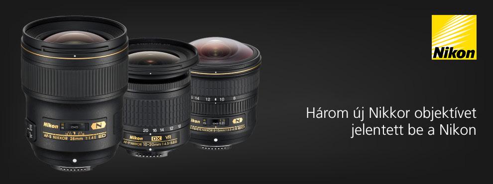 Három új NIKKOR objektívet jelentett be a Nikon