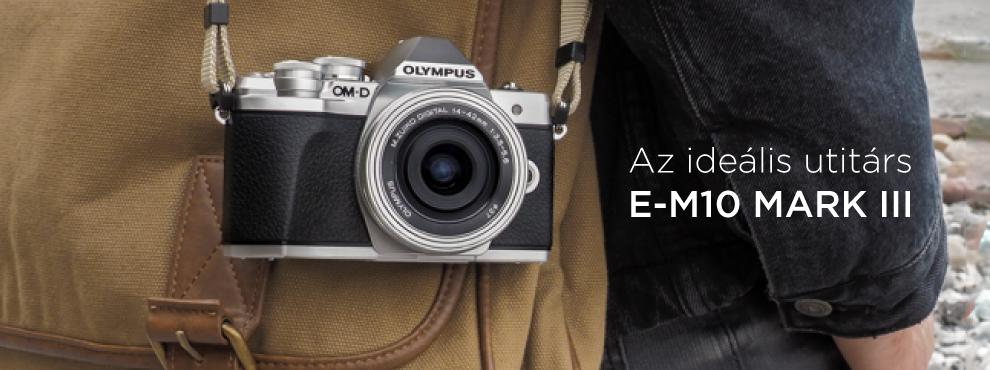 Olympus OM-D E-M10 Mark III: Az ideális útitárs