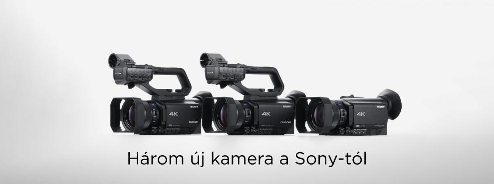 Három új kamera a SONY-tól
