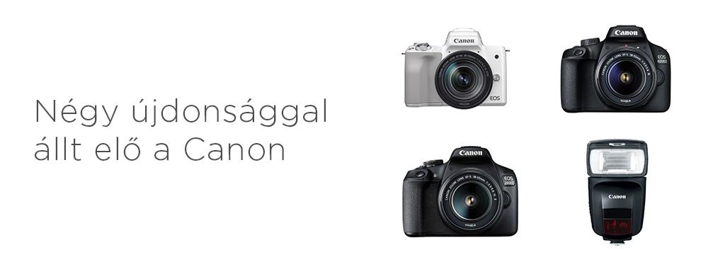 Négy újdonsággal állt elő a Canon
