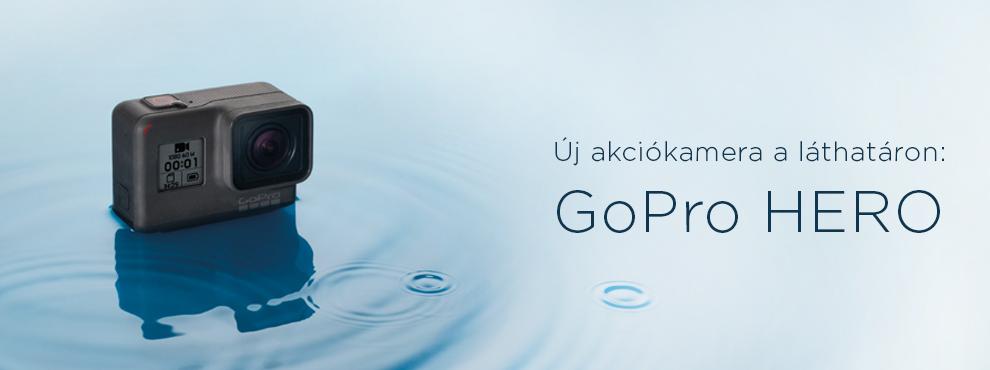 Érkezik a GoPro kedvező árú akciókamerája, a HERO