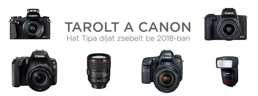 Hat Tipa díjat zsebelt be idén a Canon