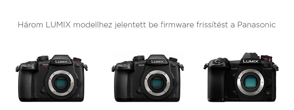 Három Lumix modellhez jelentett be firmware frissítést a Panasonic