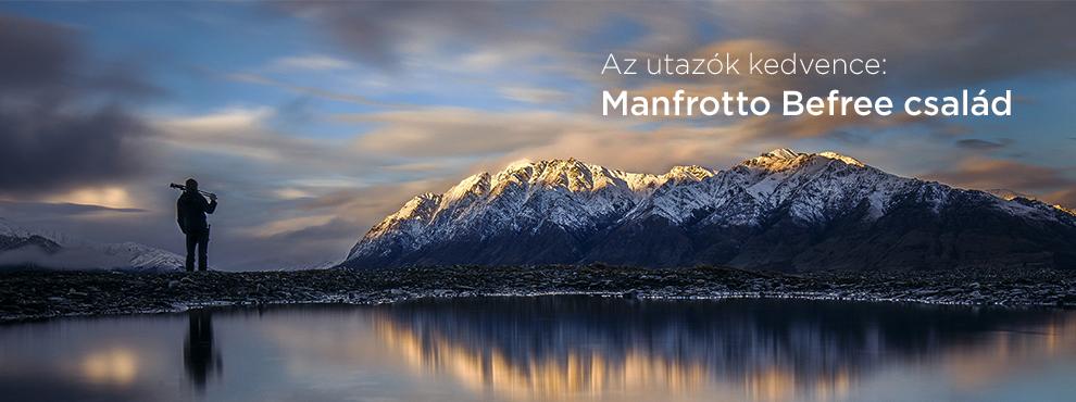 Az utazók kedvence: Manfrotto Befree család
