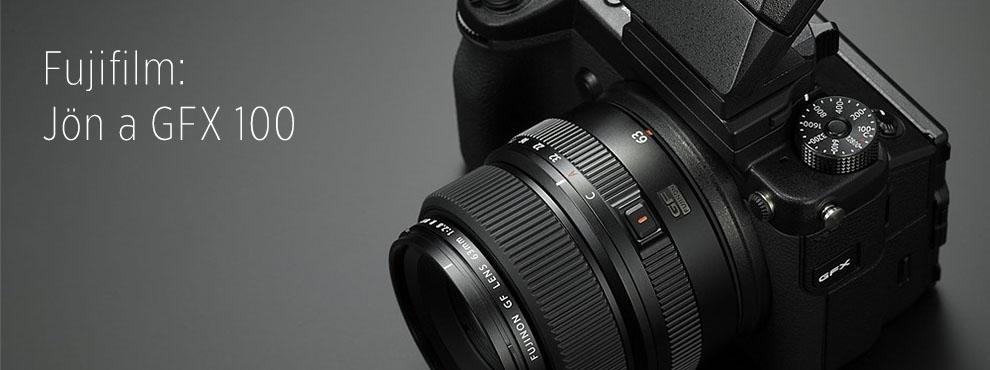 A Fujifilm GFX 50R mellett jön a 100 megapixeles kamera is
