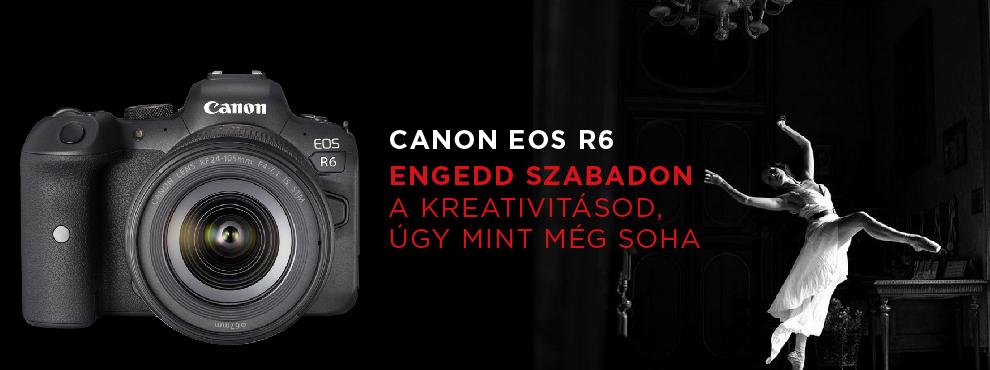 Engedd szabadon kreativitásod a Canon Eos R6-al