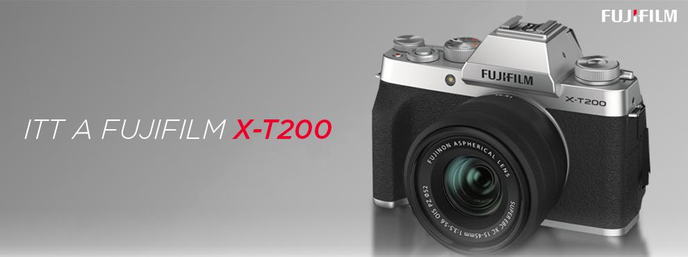 Itt a Fujifilm X-T200