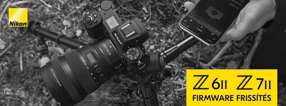 Itt a legújabb Nikon Z 7II és Z 6II Firmware frissítés és a Z6 II Movie Kit