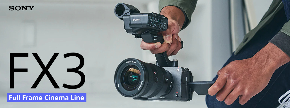 Sony FX3 full-frame kamera - Filmezésre tervezve