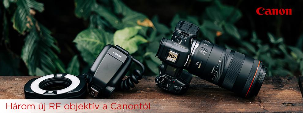 A Canon három új RF objektívvel jelentkezett
