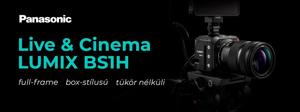 Megérkezett az új, full-frame, box-stílusú, tükör nélküli  Live & Cinema LUMIX BS1H fényképezőgép