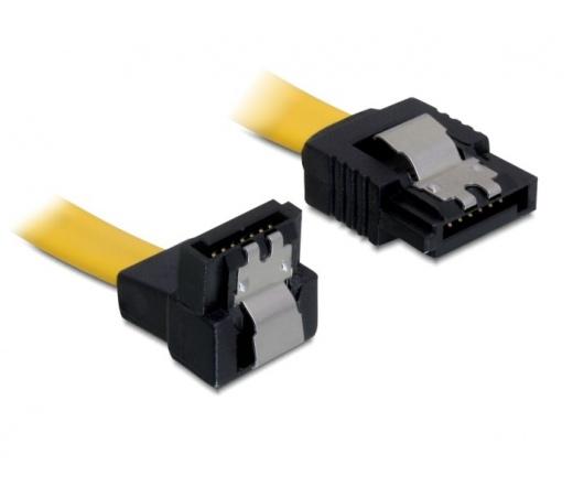 Delock kábel SATA 6 Gb/s le/egyenes, fém, 70 cm