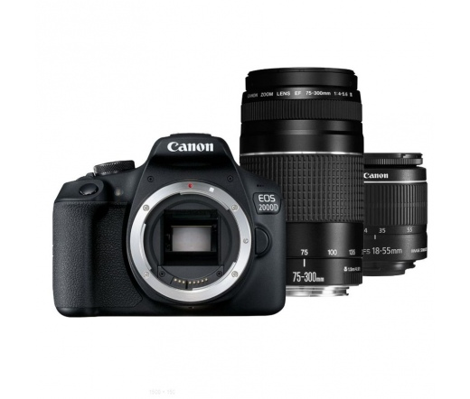 Canon EOS 2000D +EF-S 18-55 IS STM +EF 75-300 III