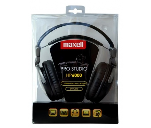 MAXELL Pro Studio HP6000 - 303529.00.CN - Fejhallgató - Fejhallgató ... 7ec82a3e50