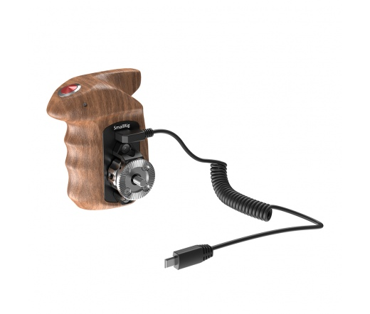 SMALLRIG Right Side Wooden Hand Grip with Record S