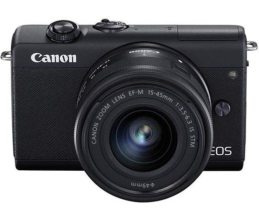 Canon EOS M200 + 15-45mm kit fekete
