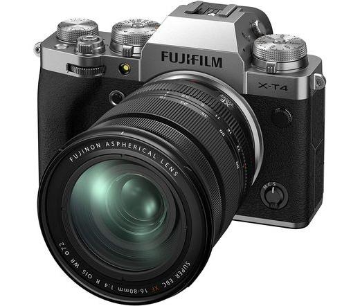 Fujifilm X-T4 ezüst + 16-80mm f/4 R OIS WR kit