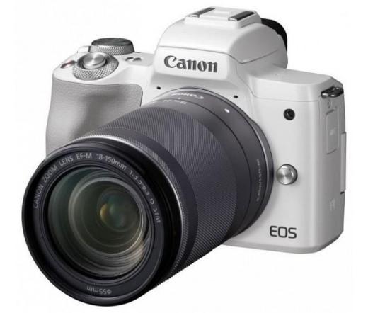 CANON EOS M50 + EF-M 18-150mm Kit fehér