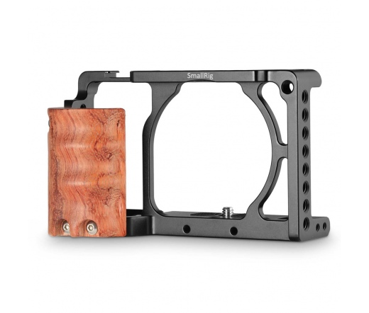 SMALLRIG Cage with Wooden Handgrip for Sony A6000/
