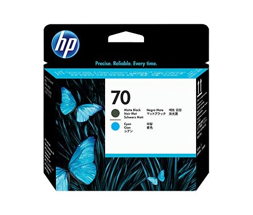 HP 70 matt fekete és ciánkék nyomtatófej