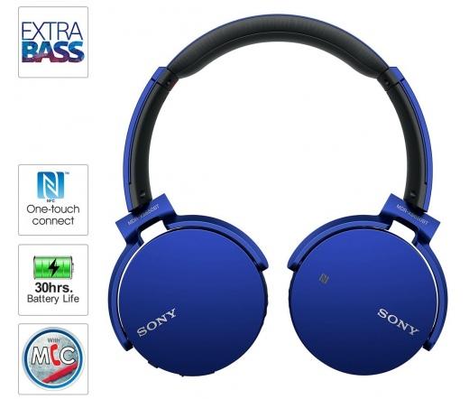 Sony MDR-XB650BT Bluetooth Kék - MDRXB650BTL.CE7 - Fejhallgató - Fejhallgató 3710bfbd22