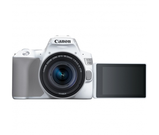 Canon EOS 250D + EF-S 18-55mm kit fehér