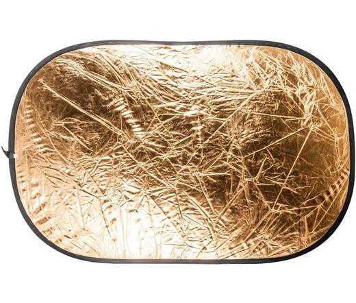 Quadralite collaps. reflector silver/gold 120x180