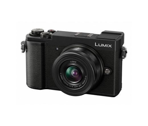 PANASONIC LUMIX DC-GX9KEG-K (fekete) + 12-32mm
