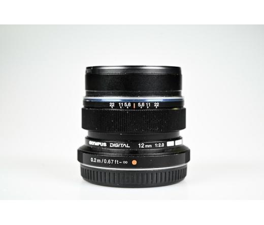 Használt Olympus 12mm f/2.0 objektív sn:ABU222885