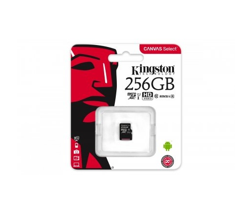 Kingston Canvas Select microSD 80MB/s 256GB