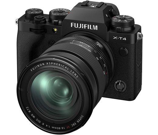 Fujifilm X-T4 fekete + 16-80mm f/4 R OIS WR kit