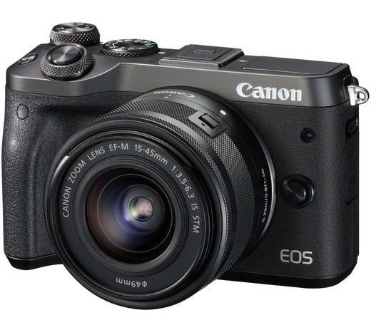 Canon EOS M6 + EF-M 15-45mm fekete