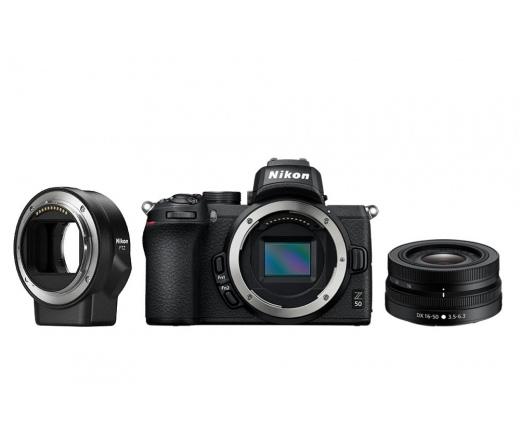 Nikon Z50 + 16-50 VR + FTZ adapter kit