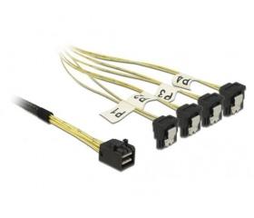 Delock Mini SAS HD SFF-8643 > 4x SATA 7 tűs 1m